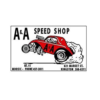 A & A Speed Shop 1960 S Drag Race Hot Rat Rod Decal Vintage Look Bumper Sticker