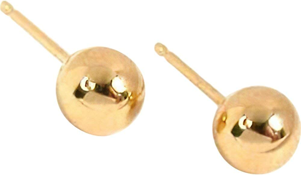 14K Gold 6mm Ball Earring