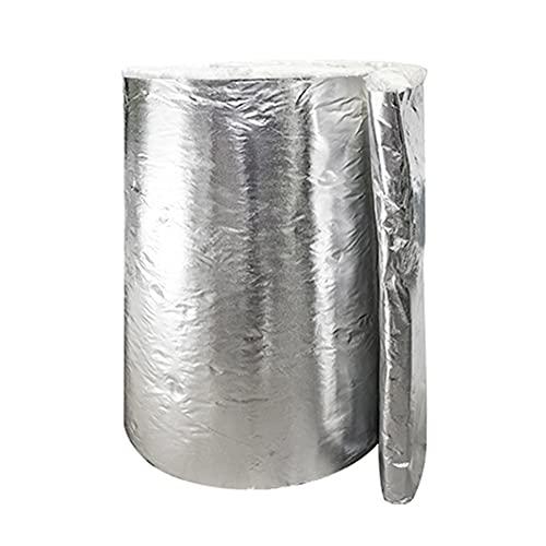 Manta De Fibra De Cerámica con Revestimiento De Papel De Aluminio, Aislamiento Térmico Impermeable Y Barrera para Forja De Horno De Horno, Paredes Pisos Y Techos, Rollo Simple