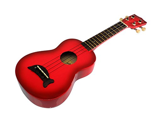 Makala MK-SD/RDBURST Dolphin Bridge Red Burst Soprano Ukulele, Red Burst, one size