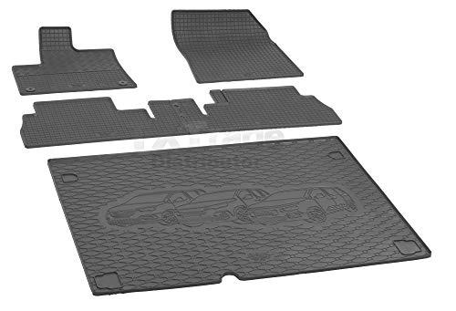 Passende Gummimatten und Kofferraumwanne Set geeignet für Citroen Berlingo L1 5-Sitzer ab 2019ein Satz + Gurtschoner