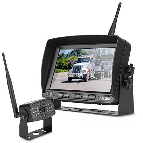 Truck Digitales drahtloses Rückfahrkamera Monitor System Kit,7 Zoll DVR Monitor+HD IP69K wasserdichte Nachtsicht Rückfahrkamera mit Rückfahrkabine für Van Anhänger 5.Rad Pickup RV Campers Wohnmobil