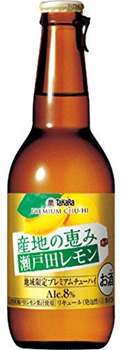 宝酒造 産地の恵み 瀬戸田レモン 瓶 280ml×12本入