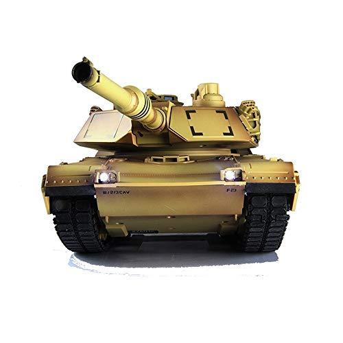 OUUED Amerikaanse M1A2 draadloze afstandsbediening Tanks batterij, licht, geluid, Rotating Turret 2.4GHZ opladen Radio RC Panzer Tank, Double batterij Beste Cadeaus for Kerstmis Kids