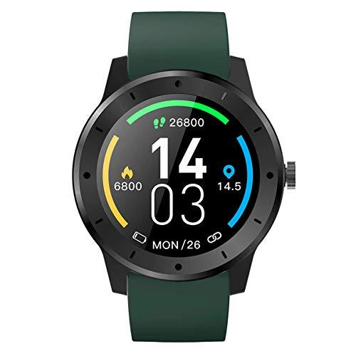 Smartwatch, GPS Reloj Inteligente Impermeable IP68 Monitor De Sueño Pulsómetros Cronómetros Contador De Caloría, Pulsera De Actividad Inteligente Para Hombre Mujer Niños,Verde