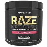 Raze Extreme Pre Workout Powder   Sandía   Creatina, Cafeína y Beta Alanina   Bebida Energética   THE PROTEIN WORKS   30 raciones