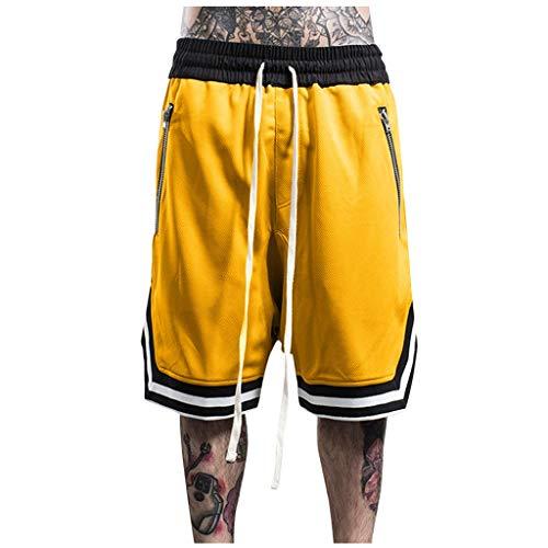 FRAUIT Sports Shorts Herren Lose Outdoor Sweatshorts Pants Atmungsaktive Basketball Shorts Schnell Trocknend Freizeitshort Sommer Männer Jogginghose Trainingshose Jogger Sweatpants