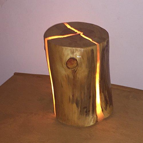 Lámpara LED de diseño con tronco de árbol