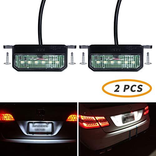 Yuanjoy Lámpara LED de matrícula brillante, luz de matrícula de 12 V / 24 V, luces traseras universales impermeables para camión, remolque o barco, modelo B (2 piezas)