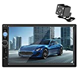 Car Stereo AutoRadio 7 Inch Digital Multimedia Universal Car Stereo Touch Screen Radio Bluetooth FM with USB/AUX-in/RCA/Support Steering Wheel Controls,Mirror Link,Remote with Backup Camera