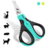 JOFUYU Cat Nail Clippers - Professional Cat Nail Trimmer – Safe, Sharp Angled Blade Pet Nail Trimmer and Clippers – Non-Slip Handle Cat Nail Scissors – Cat Claw Clippers for Small Dogs and Cats