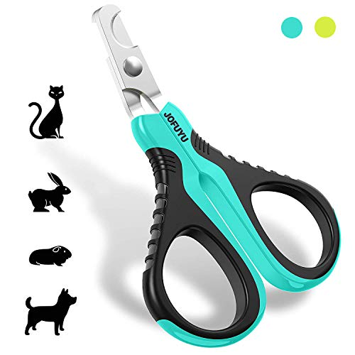 JOFUYU Cat Nail Clippers - Professional Cat Nail Trimmer – Angled Blade Pet Nail Trimmer and Clippers – Cat Claw Clippers for Small Dogs and Cats - Safe, Sharp