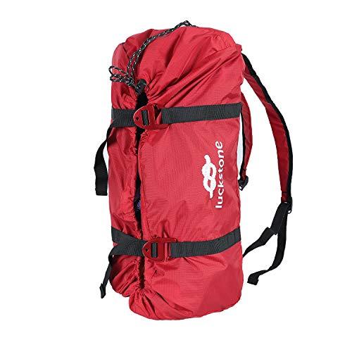 HMLIGHT Bergseil Taschen Shouder Strap Seile Aufbewahrungstasche Outdoor-Klettern Camping Rock-Folding Portable-justierbarer Wasserdicht,Rot