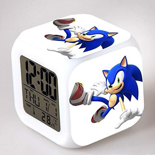 HHKX100822 Pikachu Wecker Bunte Farbe Wecker Led Quad Uhr Kinder Kreative Geschenk Kleine Wecker N