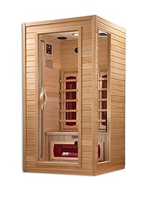 DYNAMIC SAUNAS AMZ-DYN-9101-01 Alicante 1 to 2-Person Far Infrared Sauna