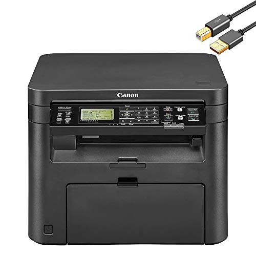 Canon imageCLASS MF200 Series All-in-One Wireless Monochrome Laser Printer Scanner Copier for Home Business Office - Tiltable LCD, 24 ppm, 250-Sheet, Ethernet - ORPHYER 10 Feet Printer Cable