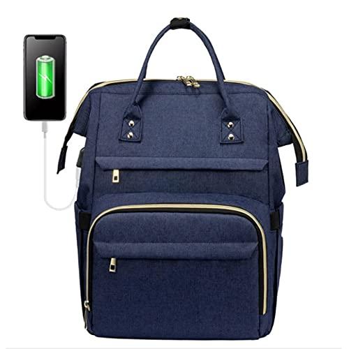 GQCTXHZ Mochila para Computadora Portátil de 15,6 Pulgadas, Material de Lona Informal Universitario Bolsas de Viaje de Moda Mochila de Trabajo de Alta Capacidad con Puerto USB.