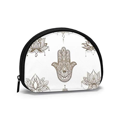 Lotus Hansa Anzug Boho Nature Kleine Geldbörse für Frauen Niedliche Münztasche für Mädchen Mini Münztasche Aufbewahrungstasche Shell Wallet