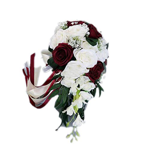 Heat-Tracing Wedding Bride Water Droplet Holding Flowers European Holiday White Simulation Of The Rose Bouquet Hand Realistic Multicolor,same as picture2