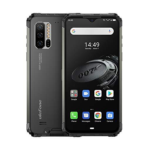 Ulefone Armor 7E防水頑丈なスマートフォンロック解除、頑丈なスマートフォンAndroid 9.0 6.3インチHelio P90 4GB + 128GB FHD 48MP + 16MP 5500Mahバッテリーワイヤレス充電、顔ID、GPS、Glonass、心拍数、耐衝撃性