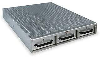 JOBOX 1403980 3-Drawer Long Floor Heavy-Duty Aluminum Drawer Storage - (36