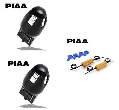 PIAA Turn Signal, LED, Orange, 12V, 3.4W, T20, 1 Piece, X7370, Set of 2, & (Amazon.co.jp Exclusive) PIAA LED Turn Signal Resistance, LED 12V, 6Ω, 2 Pack X7371 [Purchase Set]