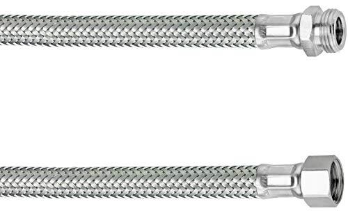Cornat Flexibler Verbindungsschlauch - 500 mm Länge - 3/8 Zoll IG, 3/8 Zoll AG - Hochwertige Edelstahl-Umflechtung / Anschlussschlauch für Wasserhahn / Armaturenschlauch / Flexschlauch / T317311270