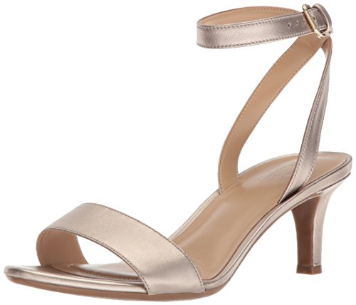 Naturalizer Women's TINDA Heeled Sandal, Gold, 6 M US