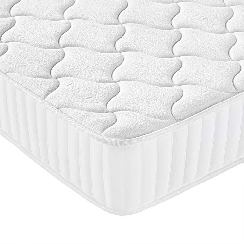 Yaheetech 3ft Single Mattress Memory Foam 9-Zone Mattress with Pocket Sprung and Tencel Fabric,Orthopedic Bed Mattress,Medium Firm,90x190x22cm