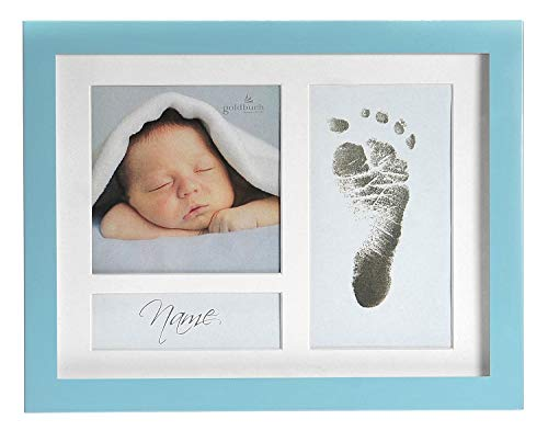 goldbuch 930027 Bilderrahmen First Step blau, Fotorahmen für 3 Bilder , Rahmen ca. 18,5x23,5cm, Kunststoff, für Collagen und Fotos, Frame Blau