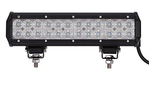 Leetop 72W IP67 CREE LED Light Bar Barra Luminosa LED Fuoristrada Auto Faro da Lavoro Luce Fari LED Auto Fendinebbia Impermeabile Flood e Spot per Auto Camion