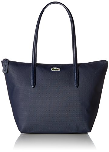 Lacoste Womens L.12.12 Small Tote Bag Shoulder Handbag, Eclipse, One Size