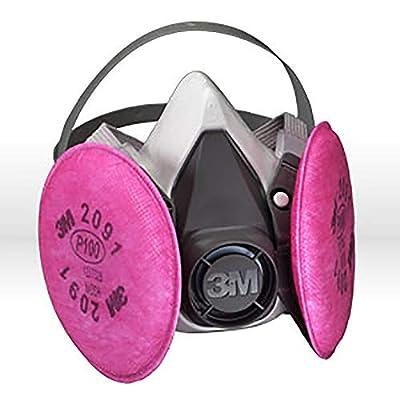 3M Half Facepiece Reusable Respirator Assembly 6191/07001(AAD), P100