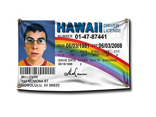 Banger - McLovin Fake ID Flag AUTHENTIC Banner College Dorm Frat SuperBad