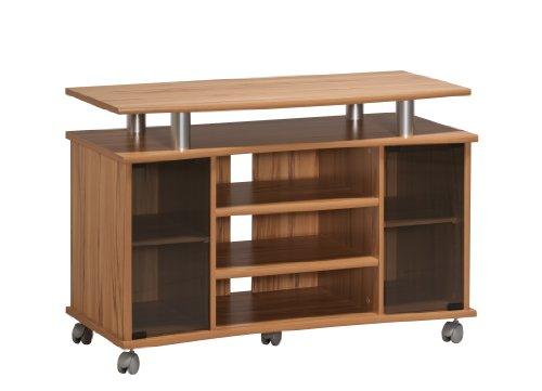 MAJA-Möbel 7362 4843 TV-Rack, Kernbuche-Nachbildung - Alu-Optik, Abmessungen BxHxT: 99,7 x 67,6 x 45 cm