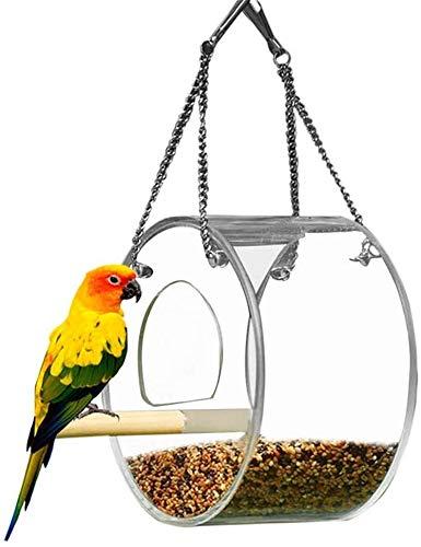 DAGUAI Bird Feeder Bird Feeders For Small Birds Bird Seed Feeder Peckish Bird Feeder Mealworm Feeder Bird Feed Storage Wild Bird Feeders Bird Nut Feeder round (Color : Round)