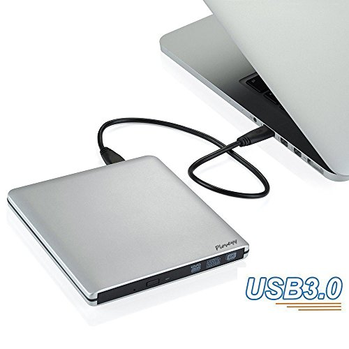 External DVD CD Drive,Ploveyy aluminum External Latest USB3.0 Ultra,External DVD Drive CD DVD RW / DVD CD ROM Drive / Writer / Rewriter / USB CD Burner Ideal For Desktops, Notebooks and Laptops