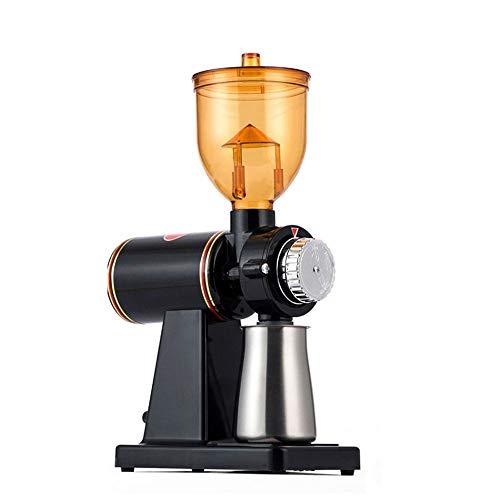 Macinacaffè Elettrico Macinacaffè Macchina per caffè in Polvere Spessore Macinatura Regolabile (Nero)
