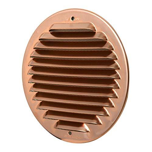 La Ventilazione GRAT125R Rejilla de ventilación redonda de cobre con red antiinsectos, para superponer, diámetro 150 mm.