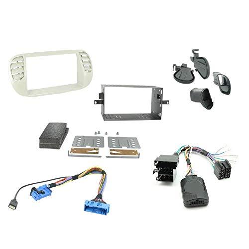 Kit Installation Autoradio KITFAC-ZFT5 compatible avec Fiat 500 - Ivoire