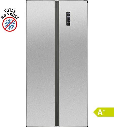 Bomann SBS 7310 IX Kühl-Gefrier-Kombination/A+/ 181 cm Höhe/ 394 kWH/Jahr/ 269 Liter Kühlteil/ 186 Liter Gefrierteil/MultiAirflow-System für optimale Luftzirkulation/inox
