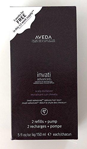 Aveda Invati ADVANCED box set of 2 refills Scalp Revitalizer 5 Oz each + pump