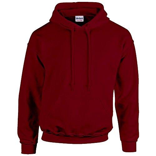 Gildan Herren-Sweatshirt mit Kapuze und Tasche, G185, Rot, G185