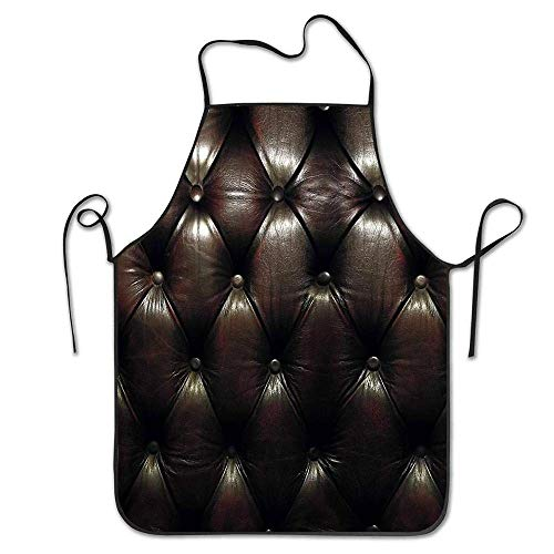 JUCHen Chesterfield Natural Women and Men Kitchen Apron Water Resistant Polyester Apron for Drawing Outdoors, BBQ.