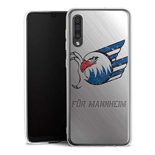 DeinDesign Hard Case kompatibel mit Samsung Galaxy A50 Schutzhülle transparent Smartphone Backcover Adler Mannheim Logo Eishockey