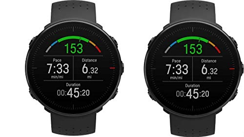 POLAR Vantage M –Advanced Running & Multisport Watch with GPS and Wrist-Based Heart Rate (Lightweight Design & Latest Technology) (Black 2-Pack, M-L 2-Pack)