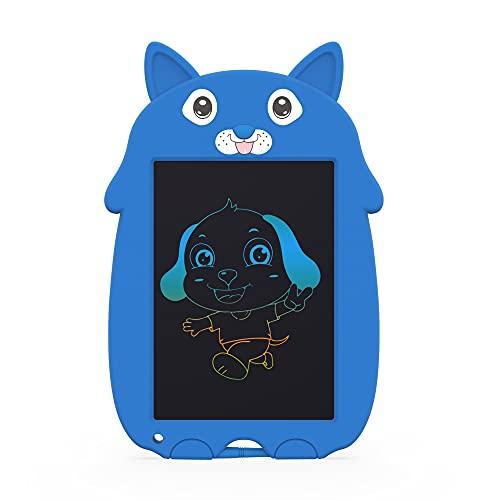 Believesinkinto LCD. Scrittura Tablet 8.5 Pollice Doodle Board, Colorful Cannable Puppy Drawing Board Toddlers Scribbler Boards, Giocattoli educativi Regalo di Natale per Bambini (Colore : Blue)