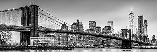 New York Skyline Brücke XXL Panorama Wandtattoo Bild Poster Aufkleber W0088 Größe 200 cm x 66 cm