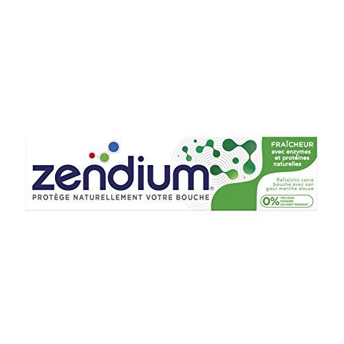 Zendium tandpasta (voor een natuurlijk frisse adem Fresh Mint, met eiwitten en enzymen) (6 x 75 ml)