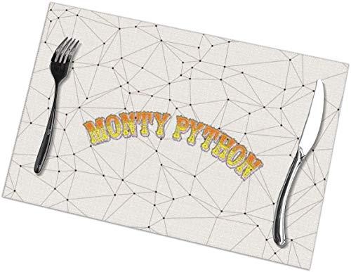gshihuainingxianruanchaos Monty-Python Tischsets Fleckenresistent Durable Hitzebeständige Tischsets Essmatten für Esstisch 12x18 Zoll Set von 6